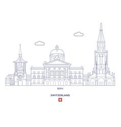 Bern city skyline vector