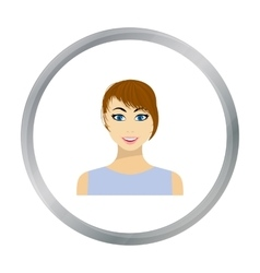 Brunette icon in flat style isolated on white vector
