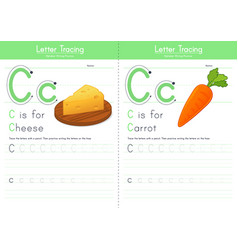 C for cheese and for carrot vector