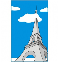 cartoon Eiffel Tower vector image vector image