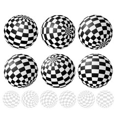 Checkered sphere set with gradient fills vector