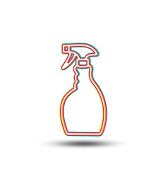 Cleaning spray line icon washing liquid vector