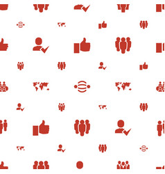 Community icons pattern seamless white background vector