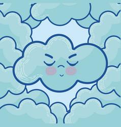 cute cloud cartoons vector image