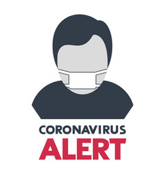 Design coronavirus alert symbol vector