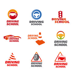 Driving school logo vector
