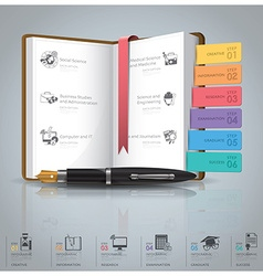 Education And Graduation Infographic With Book vector