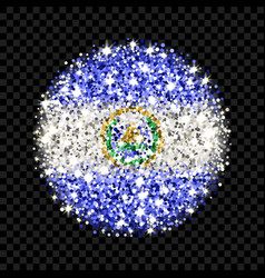 El salvador flag sparkling badge vector