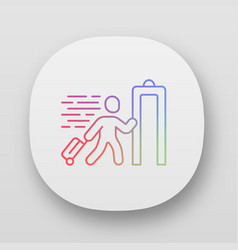 express entry app icon passenger passing x-ray vector image