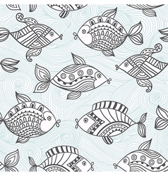 Fish pattern in abstract styleSeamless pattern can vector image