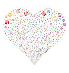 Floppy disk fireworks heart vector