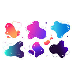 fluid shapes abstract bright design elements vector image