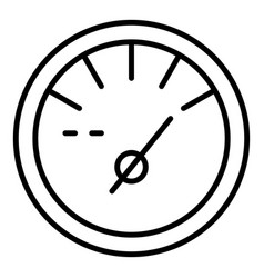 fuel full tachometer icon outline style vector image