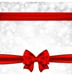 Gift card with red bow vector image