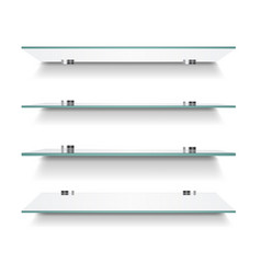 Glass shelves isolated vector