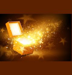 Golden box vector