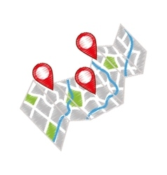 GPS map location vector image