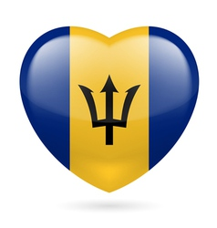 Heart icon of Barbados vector image
