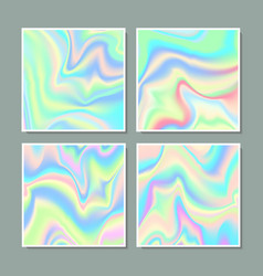 Hologram gradient set of four backgrounds vector