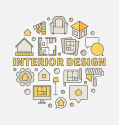 interior design colorful vector image
