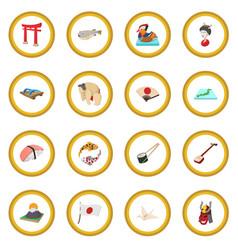 japan icon circle vector image