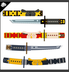 Japanes samurai sword - katana martial arts vector