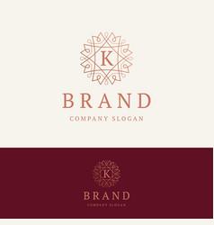 K brand logo vector
