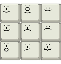 Keyboard smilies vector