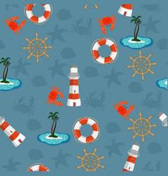 marine seamless pattern for wallpaper scrapbook vector image