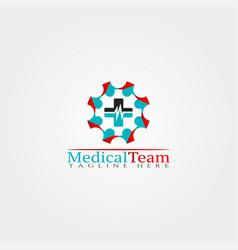 medical icon templatecreative logo design vector image
