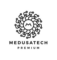 medusa tech logo icon vector image