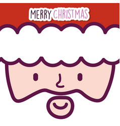 merry christmas celebration cute santa claus face vector image