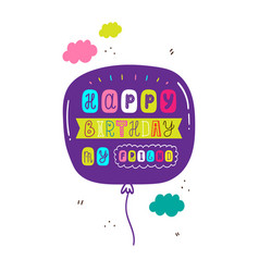 modern lettering birthday card vector image