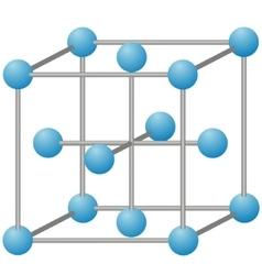 Molecule of iron vector image