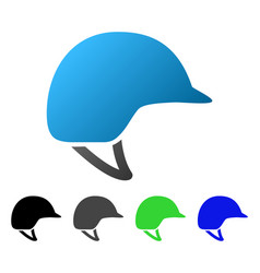 Motorcycle helmet flat gradient icon vector