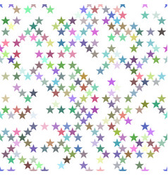multicolored seamless star pattern background vector image