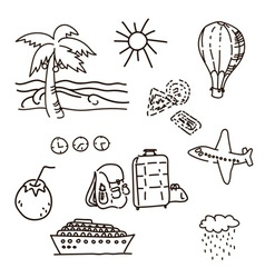 Outline Drawings By Hand In The Journey Sketch vector image