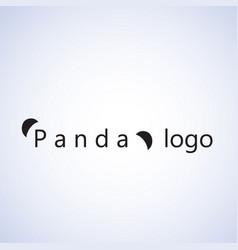 Panda logo ideas design vector