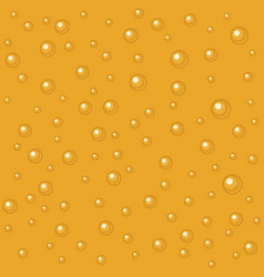 Pattern beer bubbles flat vector