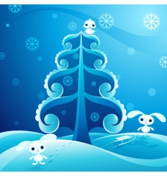 pretty winter vector image