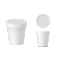realistic white cream container with cap vector image