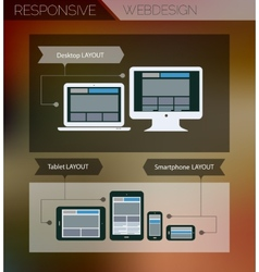 Responsive webdesign technology page design vector image