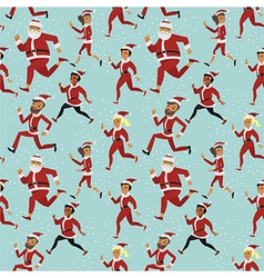 santa run pattern vector image