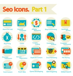 SEO Icon set part 1 vector image