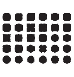 set of simple stamp vector image