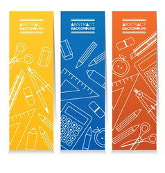 Set Of Three Colorful Vertical Banners vector image