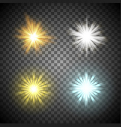 Shining stars set vector