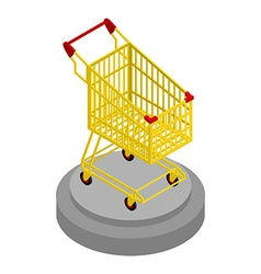 Shopping cart gold Award for best buyer Precious vector image