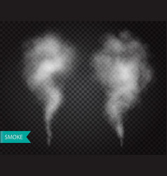 smoke fog transparent effect mist or smog vector image
