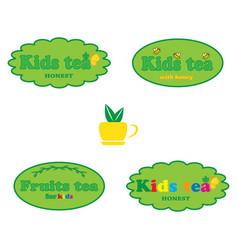 Tea for kids vector